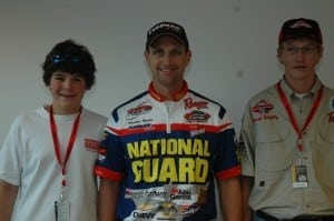 Junior Anglers with National Guard Pro Team Member Jonathan Newton